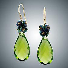 Peridot Quartz Earrings by Judy Bliss (Gold & Stone Earrings)