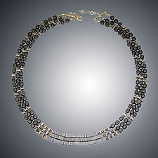 Hematite and Vermeil Necklace by Judy Bliss (Gold & Stone Necklace)