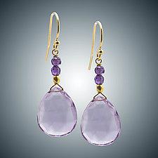 Pink Amethyst Earrings by Judy Bliss (Gold & Stone Earrings)