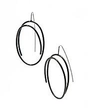 Medium Oval Earrings by Donna D'Aquino (Silver & Steel Earrings)