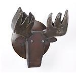 Steel Moose by Ben Gatski and Kate Gatski (Metal Wall Sculpture)