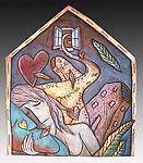 Two Lovers Heart by David Stabley (Ceramic Wall Sculpture)