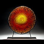 The Rookery by Lisa Tate (Art Glass Platter)