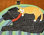 Catnap by Stephen Huneck (Giclee Print)