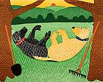 Farming is Hard Work by Stephen Huneck (Giclee Print)
