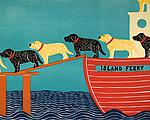 Island Ferry by Stephen Huneck (Giclee Print)