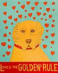 Love is the Golden's Rule by Stephen Huneck (Giclee Print)