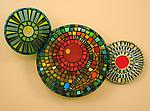 Amazon Mandala by Janine Sopp and Barbara Galazzo (Art Glass & Ceramic Wall Sculpture)
