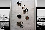 Manhattan Chic by Janine Sopp and Barbara Galazzo (Art Glass & Ceramic Wall Sculpture)
