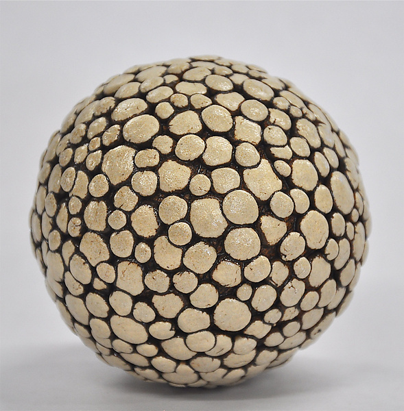 Polka Dot Ceramic Ball Rattle