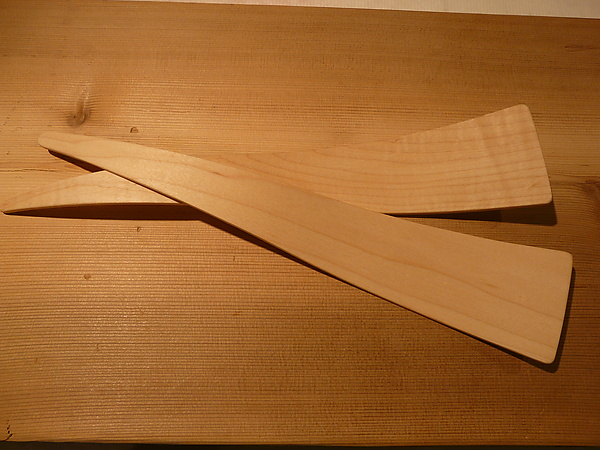 Salad Servers in Maple