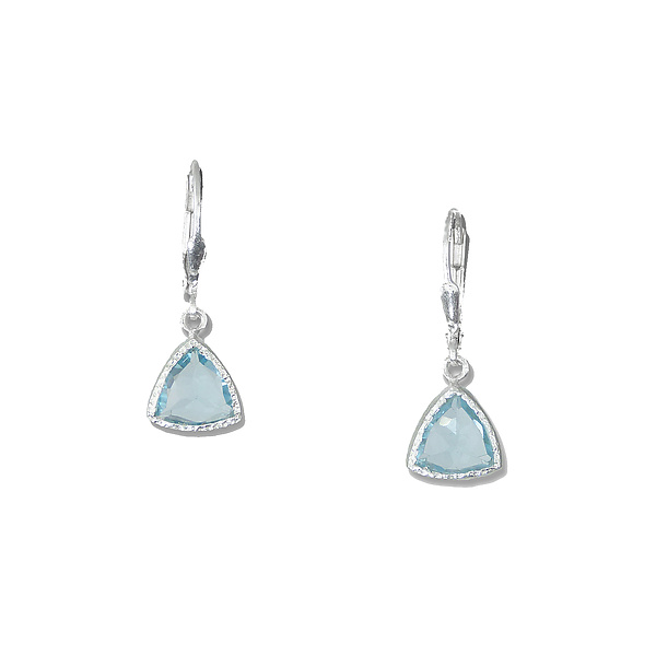 Blue Topaz Trillion Ears