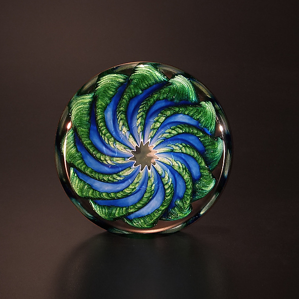 Blue and Aventurine Paperweight