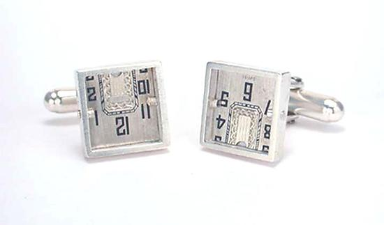 Square Antique Watch Dial Cufflinks