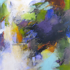 Blue Abstraction by Debora  Stewart (Acrylic Painting)