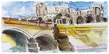 Palace Along the Tiber, Rome by Alix Travis (Watercolor Painting)