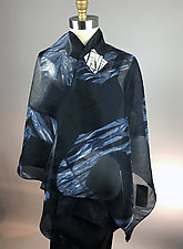 Reversible Indigo Silk Wrap by Michael Kane  (Silk Wrap)