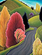 Fiery Shrub by Jane Aukshunas (Giclee Print)