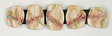 Spring Flower 5 Stone Wall Sculpture by Kristi Sloniger (Ceramic Wall Sculpture)