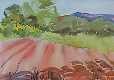 Farm Field by Alix Travis (Watercolor Painting)