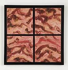 Red Mountains by Kristi Sloniger (Ceramic Wall Sculpture)