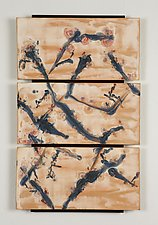 Cherry Blossoms by Kristi Sloniger (Ceramic Wall Sculpture)