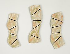 Tropical Triptych by Kristi Sloniger (Ceramic Wall Sculpture)