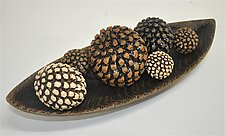 Bowl with Pinecone Rattles by Kelly Jean Ohl (Ceramic Sculpture)