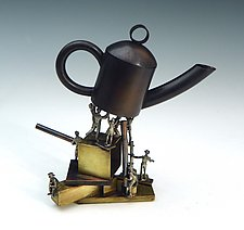 Raise High the Teapot Carpenter by Mary Ann Owen and Malcolm  Owen (Metal Teapot)