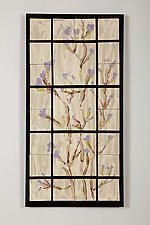 Purple Vines by Kristi Sloniger (Ceramic Wall Sculpture)