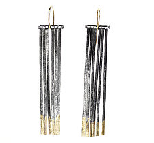 Fringe Earrings by Sophie Hughes (Gold & Silver Earrings)