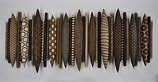 37-Piece Domestic Markings by Kelly Jean Ohl (Ceramic Wall Sculpture)