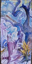 Spreading Oak Tree on Lousiana New Orleans by Alix Travis (Watercolor Painting)