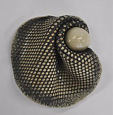 Black and White Ceramic Specimen by Kelly Jean Ohl (Ceramic Wall Sculpture)