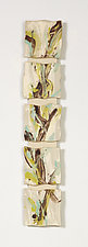 Early Spring Awakening by Kristi Sloniger (Ceramic Wall Sculpture)