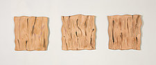 Burnt Orange Triptych by Kristi Sloniger (Ceramic Wall Sculpture)
