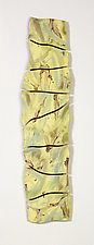 Yellow and Green Rock Wall by Kristi Sloniger (Ceramic Wall Sculpture)