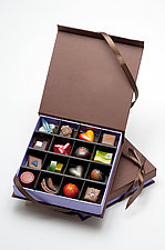 Chocolates: 16-Piece Box by Infusion Chocolates (Artisanal Chocolate)