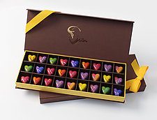 Heart Chocolates: 27-Piece Box by Infusion Chocolates (Artisanal Chocolate)