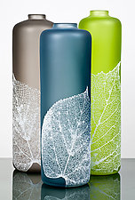 Leaf Vessels by Nick Chase (Art Glass Vessel)