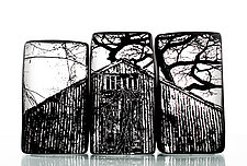Barn by Nick Chase (Art Glass Sculpture)