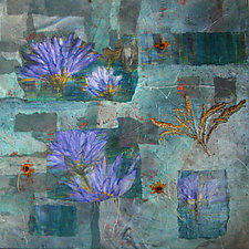 Spring has Sprung by Maureen Kerstein (Mixed-Media Painting)