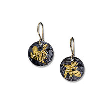 Keumboo Disks by Suzanne Q Evon (Gold & Silver Earrings)