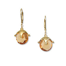 Mandarin Jambalaya Earrings by Suzanne Q Evon (Gold & Stone Earrings)