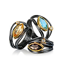 East West Ring by Suzanne Q Evon (Silver & Stone Ring)