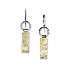 Black and Gold Tab Earrings by Suzanne Q Evon (Gold & Silver Earrings)
