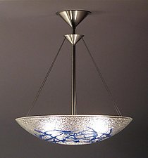 Azure Bramble Bowl Pendant by George Scott (Art Glass Pendant Lamp)