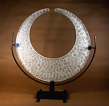 China Crescent by George Scott (Art Glass Sculpture)
