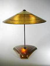 Gold Concentric Rings by George Scott (Art Glass Table Lamp)
