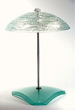 Water Series Bowl Table Lamp by George Scott (Art Glass Table Lamp)